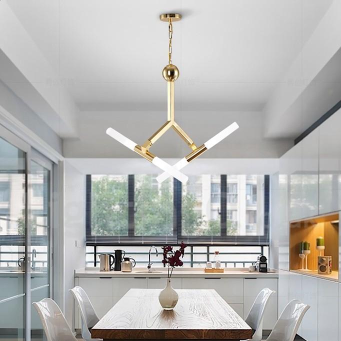 Led Light Golden Chandelier Lamp