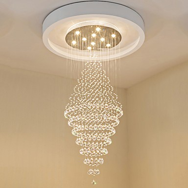 Contemporary Led Crystal Ceiling