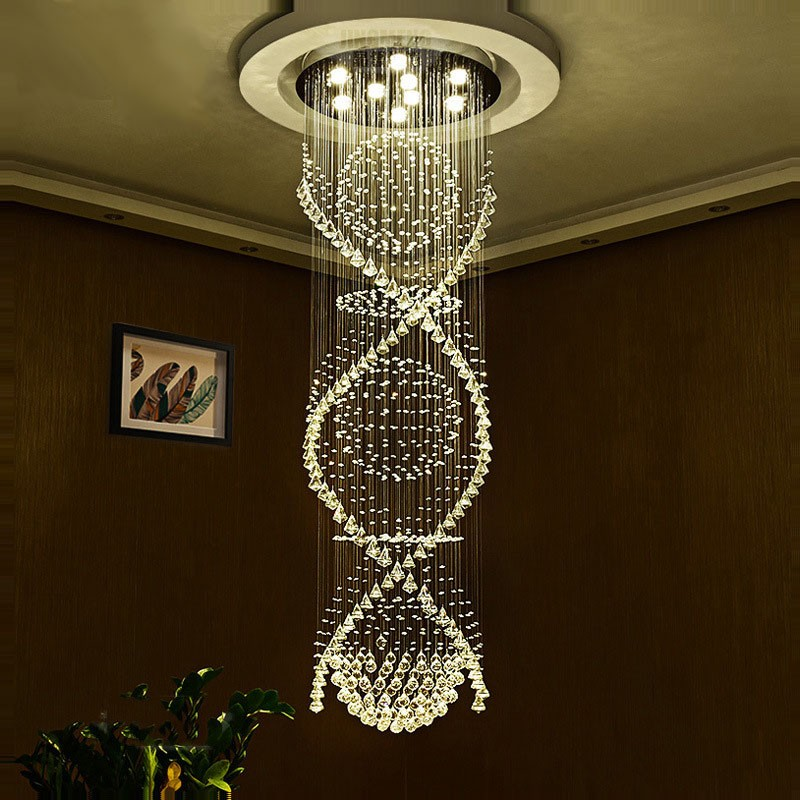 Modern Led Crystal Ceiling Pendant Light Indoor