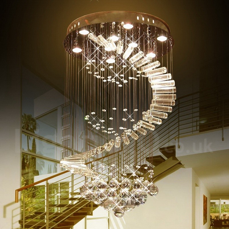 9 lights modern led k9 crystal ceiling pendant light indoor 9 lights modern led crystal ceiling pendant light indoor chandeliers home hanging down lighting lamps fixtures aloadofball Choice Image