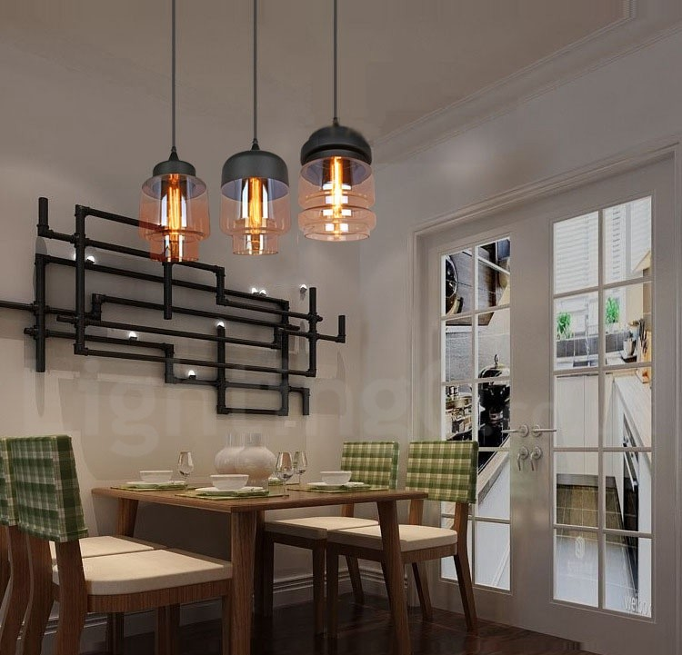 Rustic Gl Pendant Light European Bar Lounge Dining Room Lamp