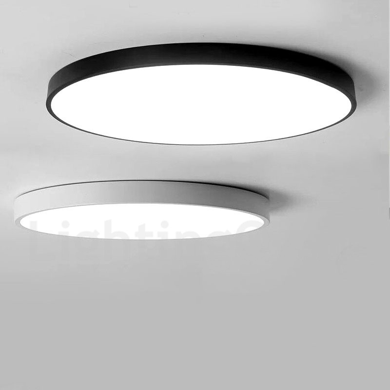 . Dimmable LED Modern   Contemporary Nordic Style Flush Mount Ceiling Lights  with Acrylic Shade for Bathroom Living Room Study Kitchen Bedroom Dining