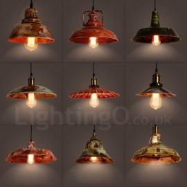 1 Light Rustic Lodge Retro Vintage Pendant For Living Room Study