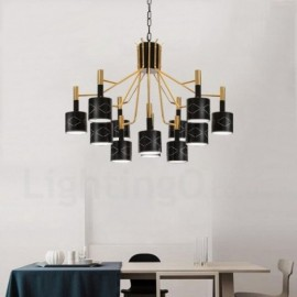 Cheap modern contemporary chandeliers modern chandeliers for sale modern contemporary 12 light steel chandelier with steel shade for living room dinning room aloadofball Images