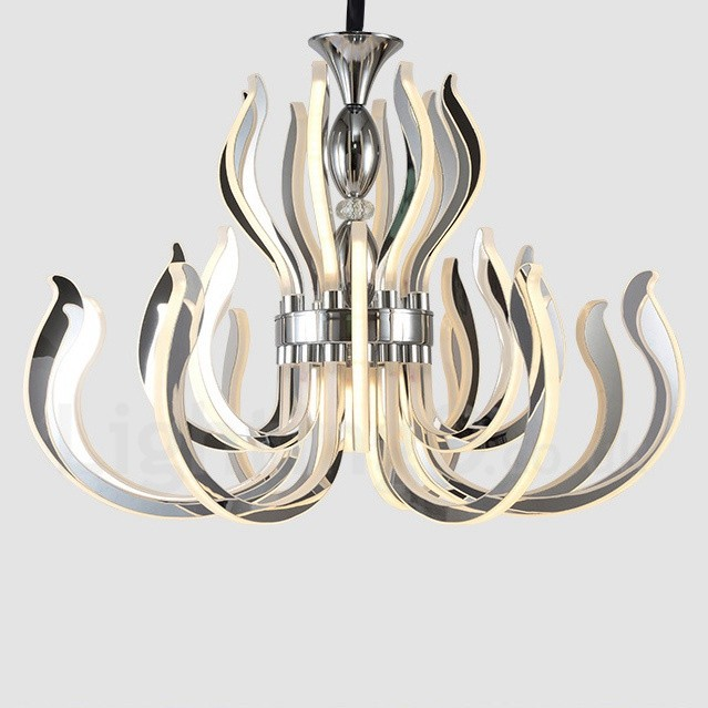 Modern Contemporary 24 Light Acrylic Chandelier With Shade For Living Room Bedroom
